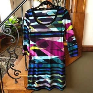 Calvin Klein Geometric Sheath Dress XS